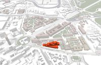 Map of TU Berlin with physics building in red.